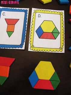 Composing shapes activities for first grade or kindergarten geometry centers!