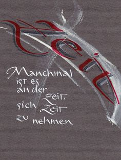 Spruchkarten - Calligraphy and Art German Words, Rainbow Art, Brush Lettering, True Words, Quotations, Love Quotes, Stress, Wisdom, Letters