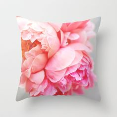 Peonies Forever Throw Pillow by Ez Pudewa - $20.00