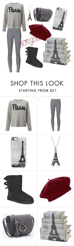 """""""What happens in Paris stays in Paris"""" by genipoo ❤ liked on Polyvore featuring Samsøe & Samsøe, ATM by Anthony Thomas Melillo, Casetify, Bling Jewelry, UGG and Accessorize"""