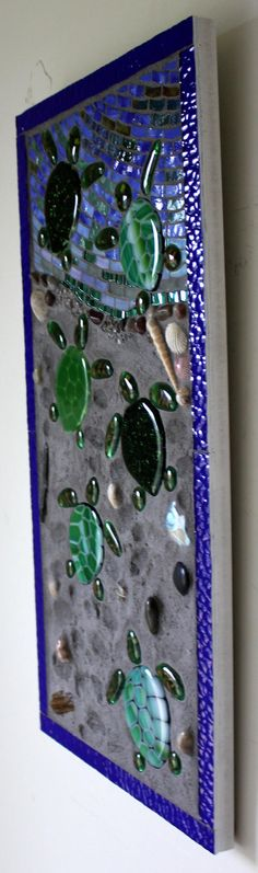 Mosaic Stained Glass Fused Glass Baby Sea by GlassArtsStudio
