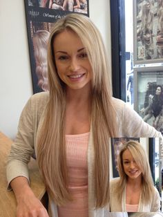 The lovely Ola Jordan, professional dancer from BBC's Strictly Come Dancing, with her new gorgeous hair extensions applied by Britain's Best Extensionist 2013 Inanch Emir