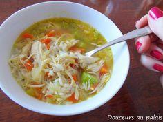 Douceurs au palais: Ma soupe riz et poulet classique Cabbage, Recipies, Cooking Recipes, Meat, Chicken, Vegetables, Ethnic Recipes, Food, Pillows
