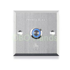 Door button with blue LED backlight Metal Exit switch button door release For electric Lock Access Control system home alarm Access Control, Control System, Security Alarm, Led, Aluminium Alloy, Commercial, Doors, Electric, Button
