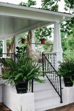 casual boho front porch refresh