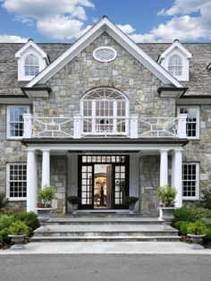 stone front porch.