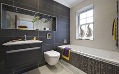 Get inspired with these gray bathroom decorating ideas    gray and white bathroom ideas grey bathrooms decorating ideas accent color for gray and white bathroom gray bathroom accessories grey bathroom ideas pinterest grey bathroom walls grey and white bathroom tile ideas grey bathroom wall decor