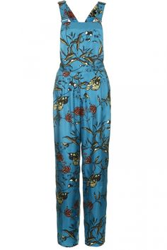 cb1bece2cf29a Topshop Fable Print Silk Dungarees By Boutique
