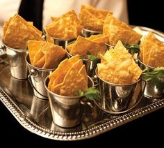 Nachos served in cute little steel buckets | Innovative food display ideas for Indian Weddings | Creative food styling | Wedding food porn | Indian wedding catering | New trending food serving ideas | Source: Karen Feder Photography | Every Indian bride's Fav. Wedding E-magazine to read. Here for any marriage advice you need | www.wittyvows.com shares things no one tells brides, covers real weddings, ideas, inspirations, design trends and the right vendors, candid photographers etc.