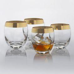 Madison Avenue Gold Band Whiskey Glasses