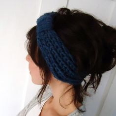 Chunky turban headband - good idea...