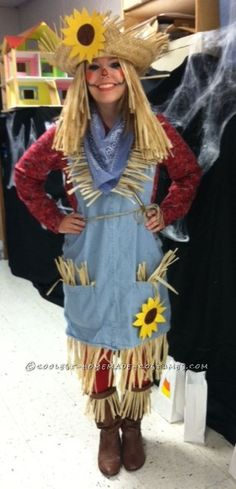 Adult Female Scarecrow Costume | Not-so-Scary Woman's Scarecrow Costume - 1