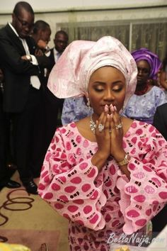 Nigerian Tradition: Parents pray for/over their children as they wed. @Mike Wortham