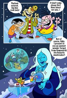 Commish: Diamond in the Big Blue Sky by BlueIke on DeviantArt Du Dudu E Edu, Rebecca Sugar Art, Old Cartoon Network, Steven Universe Memes, Cartoon Fan, Cartoon Crossovers, Fandom Crossover, Sailor Moon Art, Cartoon Sketches