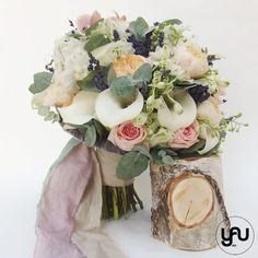 Buchet mireasa PINK & PEACH YaUconcept ElenaTOADER Wedding Bouquets, Floral Design, Floral Wreath, Peach, Wreaths, Table Decorations, Pink, Home Decor, Bridal Bouquets