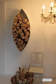Wandregale Design-Holzlager-Boxen // box for wood by art4life via DaWanda.com