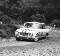 Cavallari-Salvay, Alfa Romeo Giulia Ti Super Quadrifoglio (Rally Munchen-Wienna-Budapest, 1965)