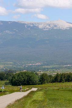 Mont Ventoux. Vaucluse. Son sommet blanc n'est pas dû à la neige, mais à la pierre blanche qui est à nu.