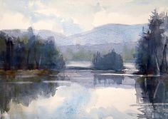 Ode To Winslow-Adirondacks by Sarah Yeoman Watercolor ~ 11 x 14
