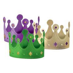 Mardi Gras Paper Crowns Asst. (12 count) $5.53 #bestseller