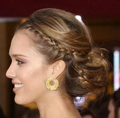 Side braid with a low messy bun. Dress it up OR dress it down. Either way you got it going on!