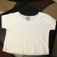 Us apparel top White top 100%cotton US apparel Tops