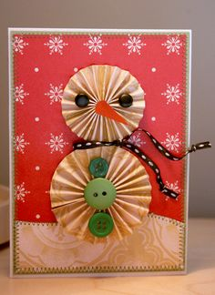 love this snowman card on Moda's Winter Blog Hop! at Cosmo Cricket