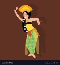 Indonesian Art, Indonesian Girls, Art Illustration Vintage, Art Illustrations, Dance Vector, Culture Art, Woman Drawing, Drawing Art, Batik Pattern