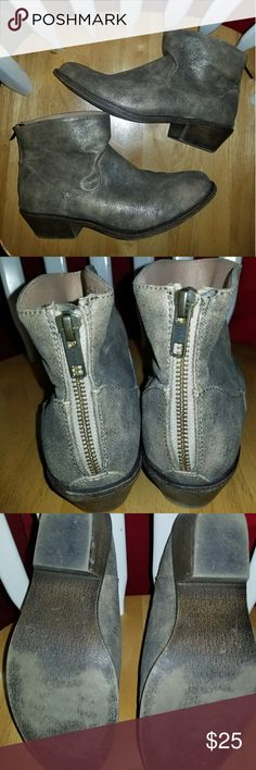 Express boots These are a hard color to deceive. They are close to an olive color with gold sheen. Look new except for minor wear on the bottoms. Express Shoes Ankle Boots & Booties
