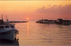 Tangier Island sunset, an island off the Eastern Shore of Virginia on the Chesapeake Bay.