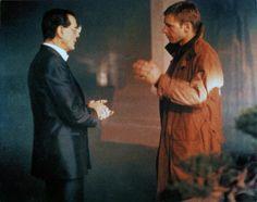 Tyrell (Joe Turkel) and Deckard (Harrison Ford); Blade Runner
