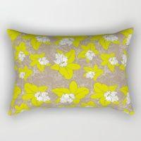 Green Orchid Flowers Rectangular Pillow
