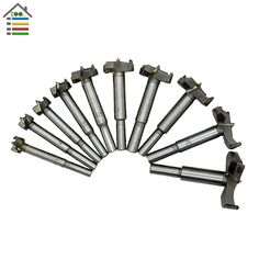 10PC 14-50mm Forstner Auger Drill Bit Set Wood Drilling Woodworking Hinge Hole Saw Window Wooden Cutting Rotary Tool Accessories