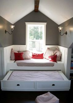 Love the idea! You get an extra bed for your visiting relatives.