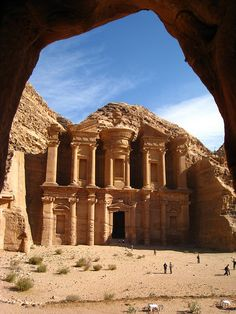 Petra, Jordan. Please explain to me how they created this 2500 years ago. Please. Right, exactly what I was thinking....Aliens.