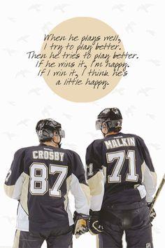 Sidney Crosby and Evgeni Malkin Sidney Crosby and Evgeni Malkin Pens Hockey, Hockey Teams, Hockey Players, Ice Hockey, Sports Teams, Flyers Hockey, Hockey Stuff, Team Player, Pittsburgh Sports