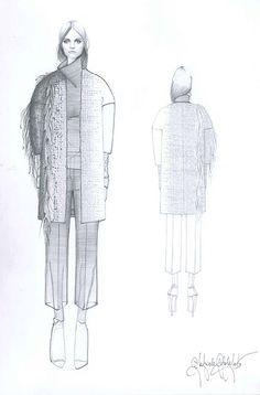 Fashion Sketchbook - fashion design drawings; knitwear design; fashion portfolio; fashion illustration // Gabriele Colangelo