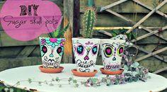 ...Sugar: DIY#2 Sugar skull pots ou les pots mexicains