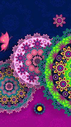 Hippie art - kaleidoscope mandalas wallpaper more wallpaper, screen w Wallpaper 2016, Owl Wallpaper, Butterfly Wallpaper, Cellphone Wallpaper, Pattern Wallpaper, Wallpaper Backgrounds, Iphone Wallpaper, Screen Wallpaper, Art Floral