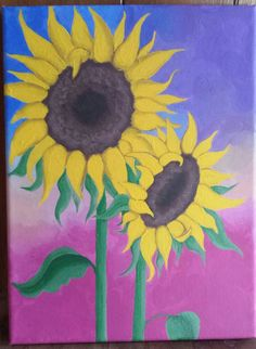 Sunflowers in acrylic April 25th, 2017