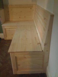 solid+wood+built+in+bench   Built in corne... Built in corner storage bench. @Willa Köerner Downs Danowski