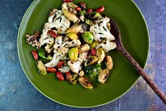 Cauliflower, Brussels Sprouts and Red Beans With Lemon and Mustard by Martha Rose Shulman