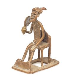 Ashanti African Brass Art #1695   Figures   Metal — Deco Art Africa - Decorative African Art - Ethnic Tribal Art - Art Deco