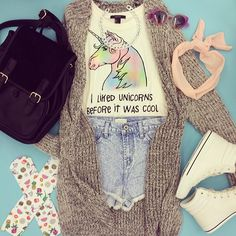 I liked unicorns before it was cool no guys like for real I have two unicorn shirts and a unicorn backpack and I liked unicorns since 2011!!!!!!!!!!!!!!!