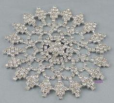1 PC Wedding Bridal Clear Rhinestone Crystal Applique Sewing Jewelry 90mm | eBay