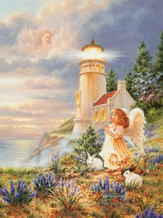 """A Little Hope"" by Dona Gelsinger (03/11/18) #Angel #Clouds #Rain"