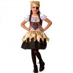 44d1fdd755 Fantasia de Halloween Infantil Menina Pirata C  Tapa Olho e Bandana - Fantasias  carol fsp