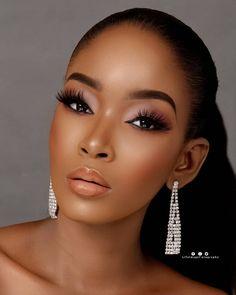 wedding makeup for black women 2019 Beautiful Makeup Styles For Black Women Makeup Makeup For Cute Makeup, Glam Makeup, Gorgeous Makeup, Eyeshadow Makeup, Makeup Looks, Eyeliner, Makeup Style, Makeup Eyebrows, Pink Eyeshadow