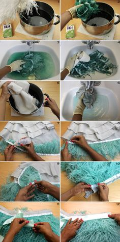 No sew Ostrich Feather Skirt 4