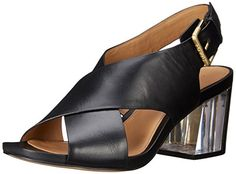 Calvin Klein Womens Loni Dress Sandal Black 85 M US *** Check this awesome product by going to the link at the image.
